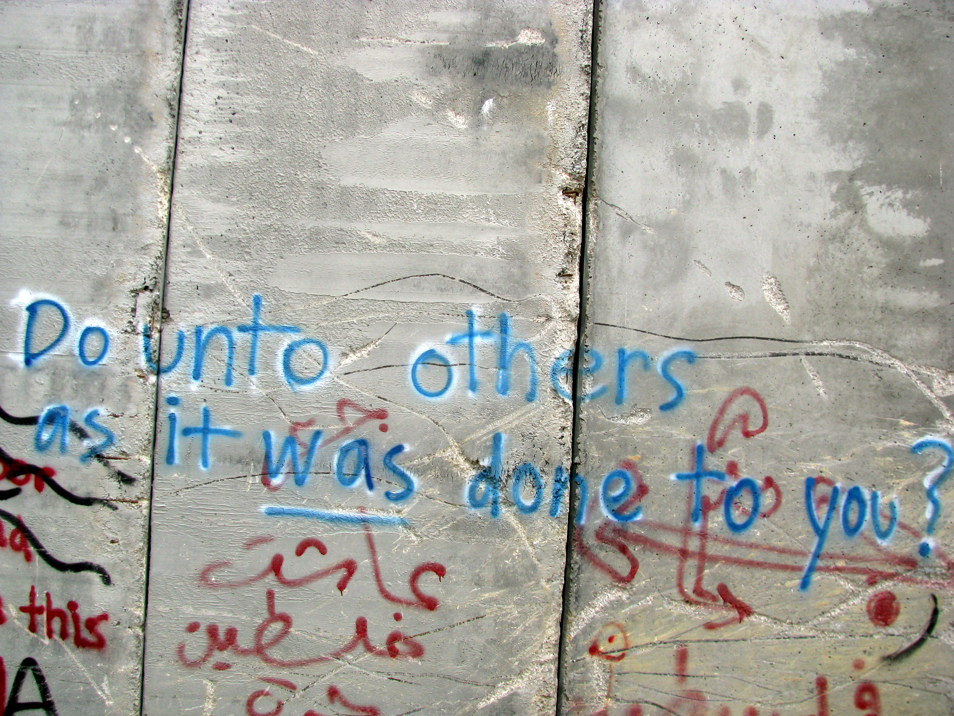 "Photo by Kevin Cure, ""Graffiti, Israel Security Wall"" https://www.flickr.com/photos/kevincure/"