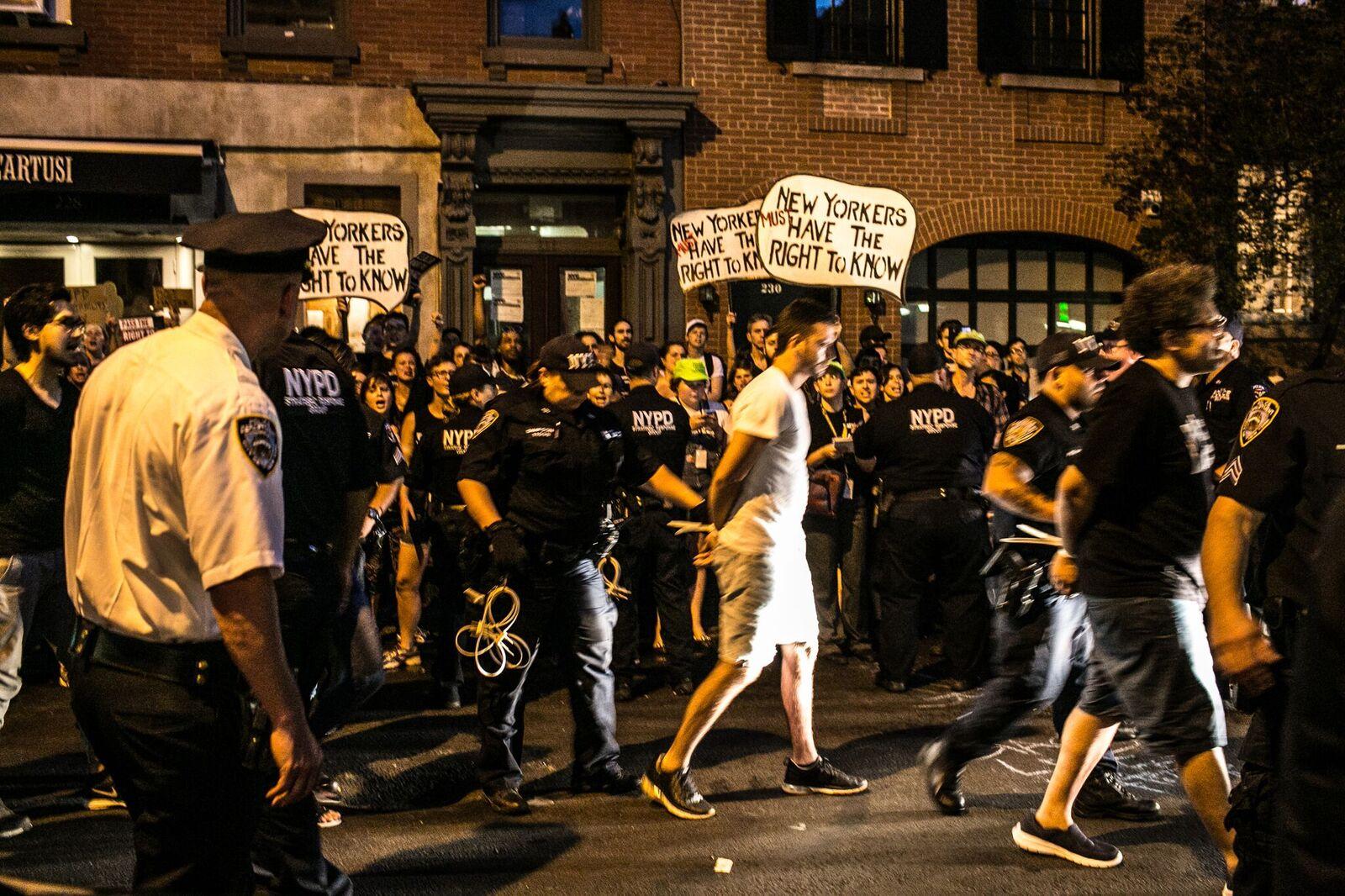, #BlackLivesMatter protest by Jews for Racial and Economic Justice (JFREJ)
