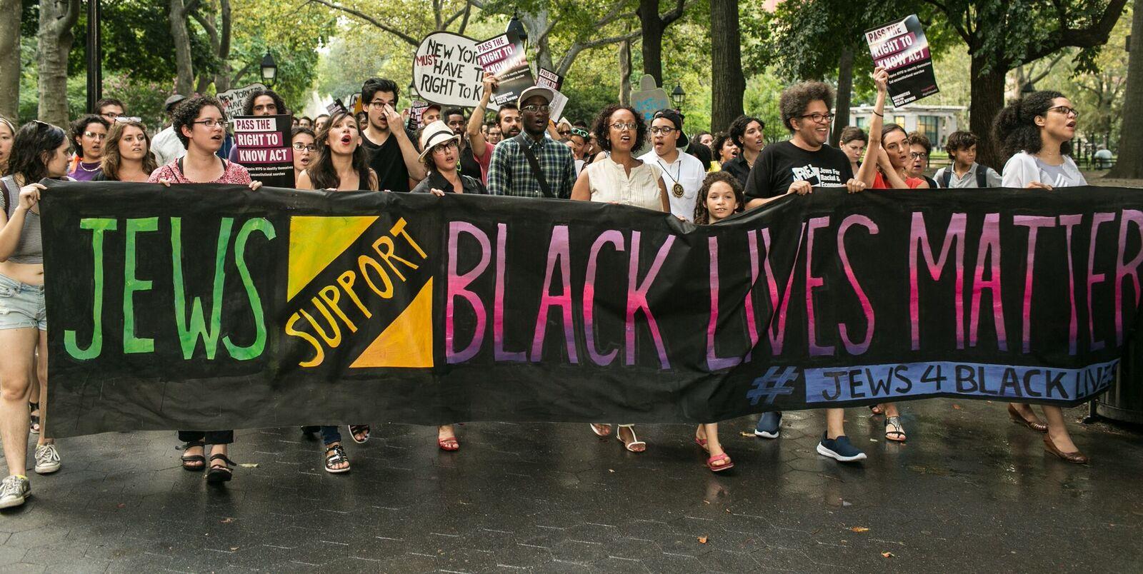 #BlackLivesMatter protest by Jews for Racial and Economic Justice (JFREJ)