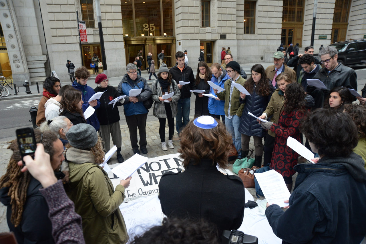 #IfNotNow seder protests JFNA support for endless occupation