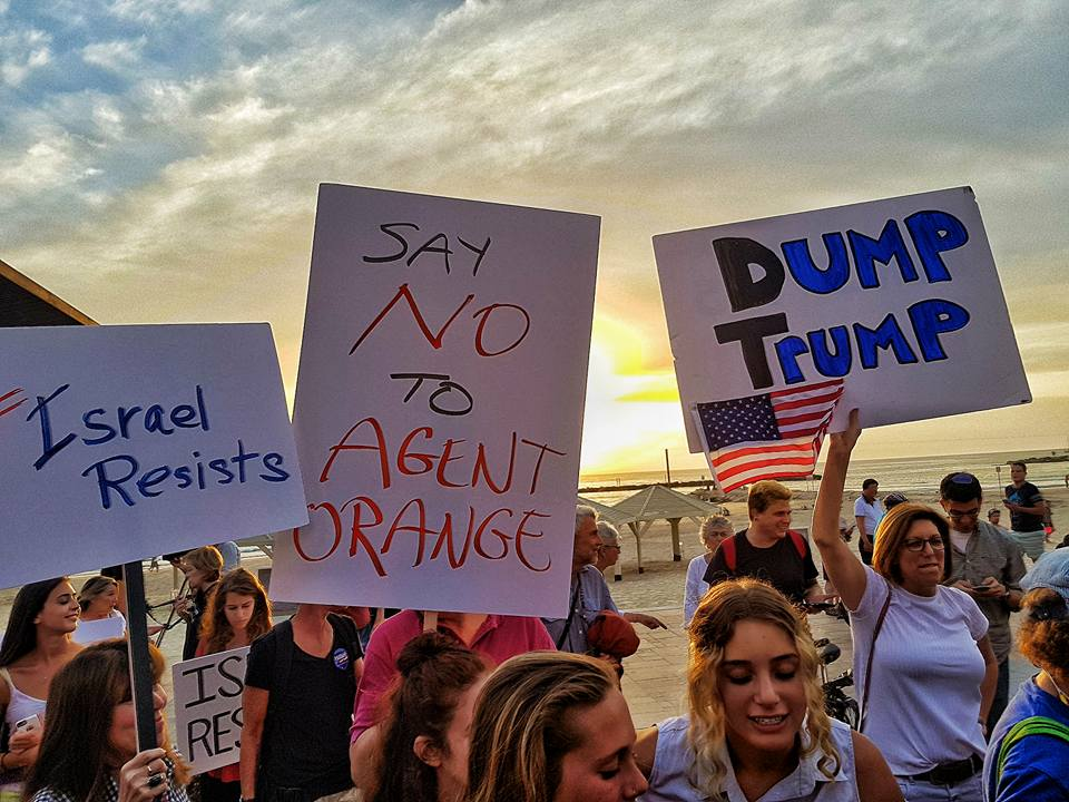 PHOTOS: Anti-Trump Rally in Tel Aviv