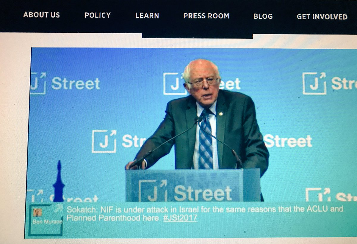 Bernie Sanders at the J Street conference, photo by Gili Getz