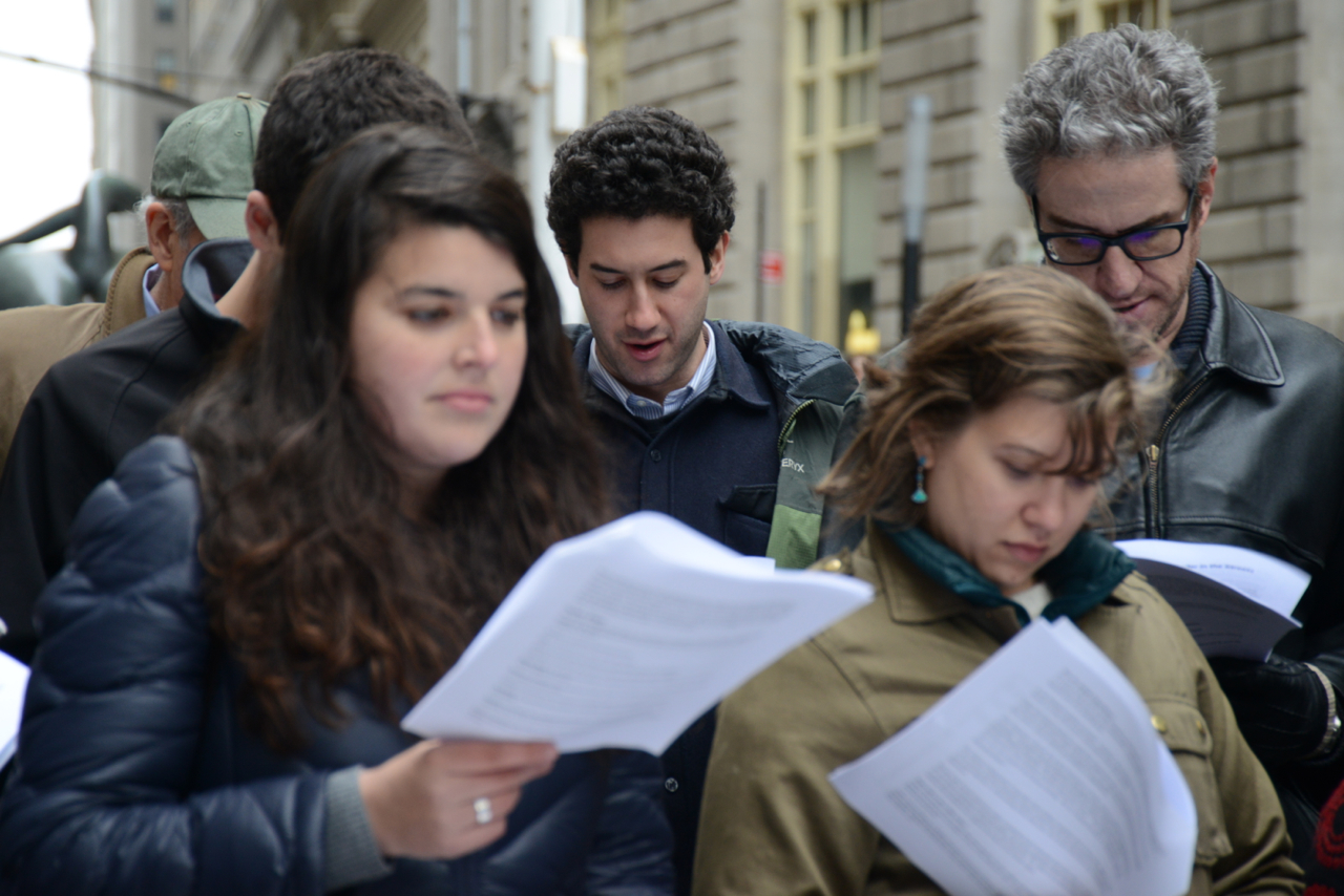 #IfNotNow Seder in the Streets outside JFNA in NY, photos by Gili Getz