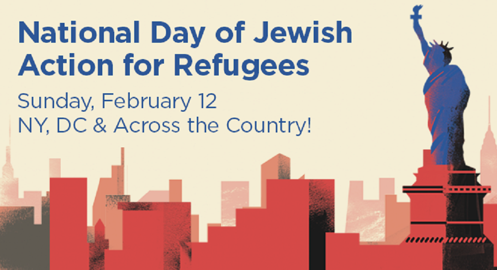 Feb 12th: National Day of Jewish Action for Refugees