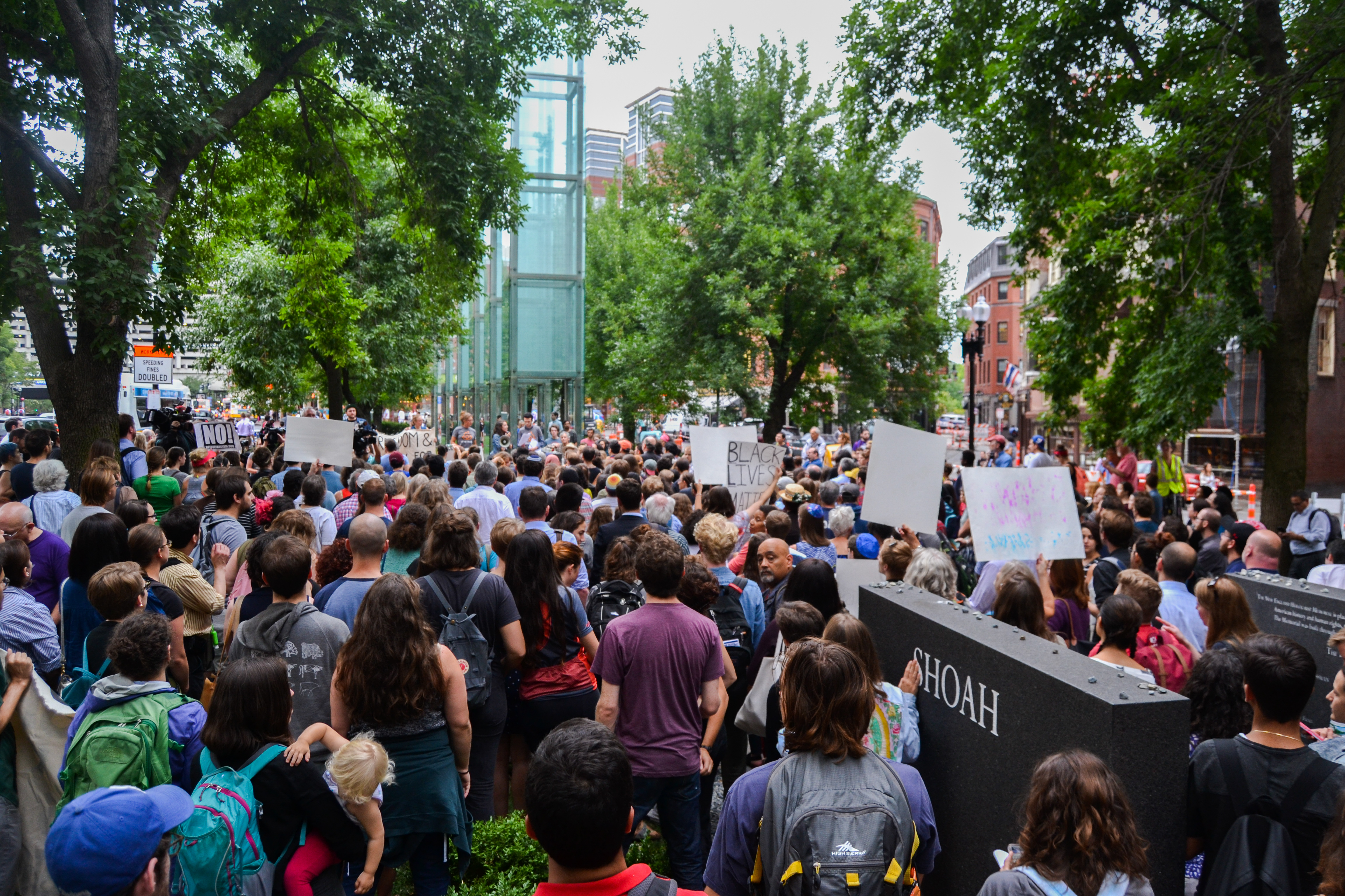 PHOTOS: 500+ young Jews in Boston rally against white supremacy