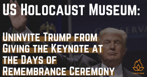 Jewish groups object to Trump at Holocaust Memorial Museum