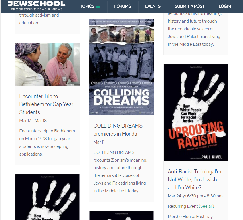 Up on Jewschool: Zionism films, antiracism trainings, and social justice jobs