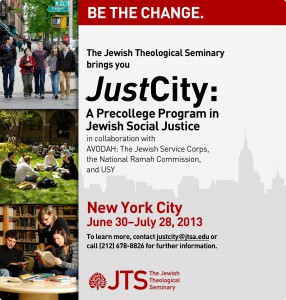 JustCity Summer Pre-College Program at JTS