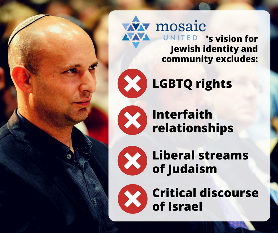 Hillel must reject Naftali Bennett-backed Mosaic United