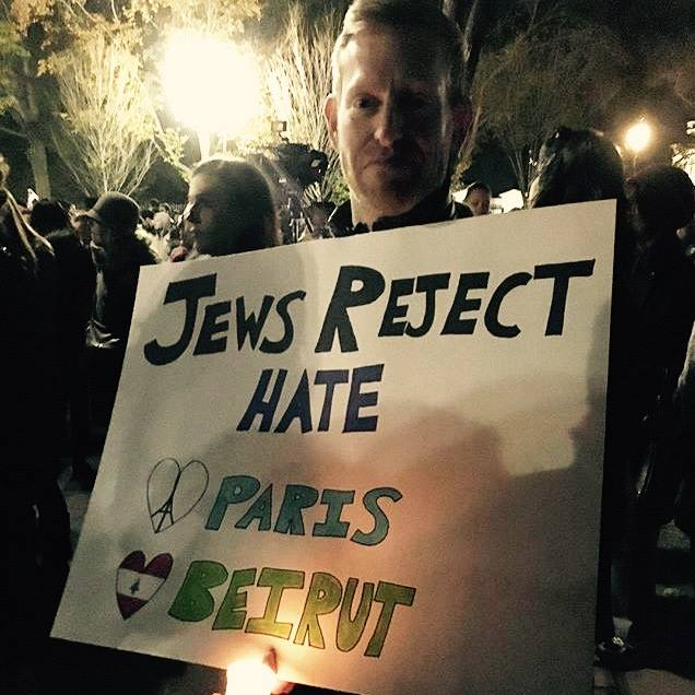 After Paris, Beirut attacks, Jews reject hate