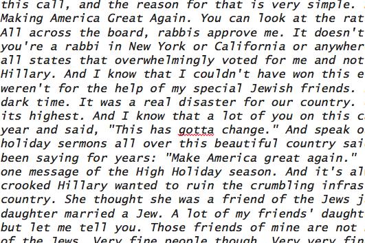 ATranscriptof The Trump Call Rabbis Will Miss This Year