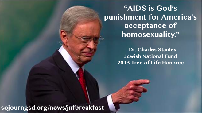 JNF Honors Anti-Gay Baptist Preacher, Calls for Respect of Homophobic Statements