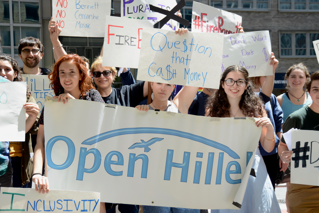 PHOTOS: Open Hillel #FireBennett Rally Outside Israeli Consulate