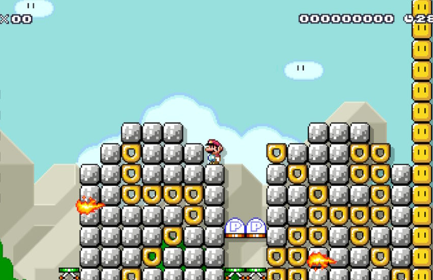 "A screenshot from ""Who Knows 1"" showing Mario/Moses atop two tablets marked with an Aleph and a Lamed"