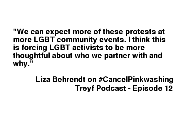 Treyf Podcast Episode 12: #CancelPinkwashing and the Intersectionality Boogieman