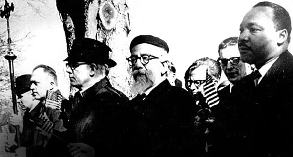Heschel marches with King